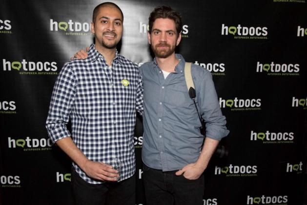 Amar Wala, à gauche, et Noah Bingham, à droite, crédit HotDocs