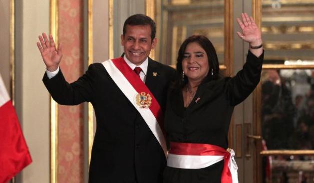 Ollanta Humala et Ana Jara, lors de son investiture le 22 juillet 2014 - Crédit TV Perú
