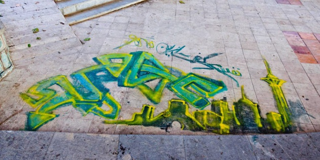 Graffiti dans la capitale - crédit Regimantas Dannys