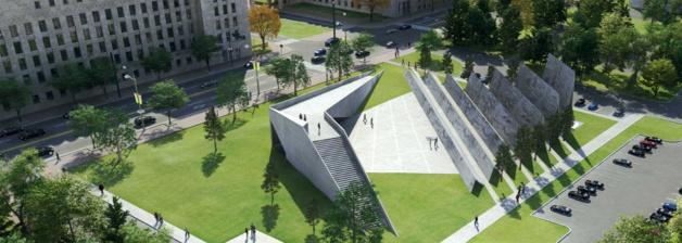 L'architecture du futur mémorial aux victimes du communisme à Ottawa.  Crédit Tribute To Liberty