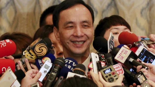 Eric Chu le président du parti au pouvoir à Taïwan, lors d'une conférence de presse à Sanghaï. Crédit Reuters/Stringer
