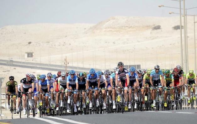 Plus de 130 coureurs étaient au départ du Tour du Qatar cette année. Crédit Nicolas Bouvy