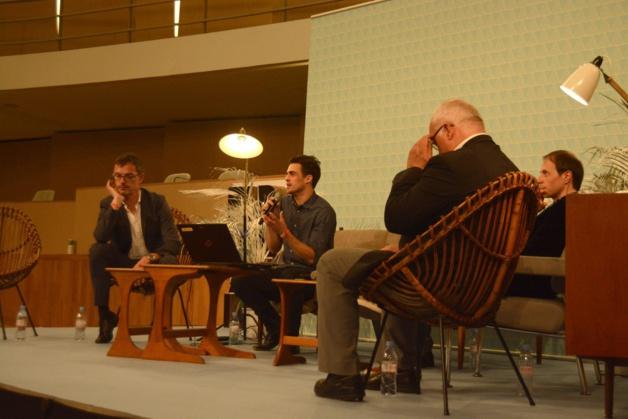 Damien Silès, Philippe Demers, Louis-Félix Binette, Frédéric Bove parlent de créativité et de culture.       Crédit Enzo Janoir