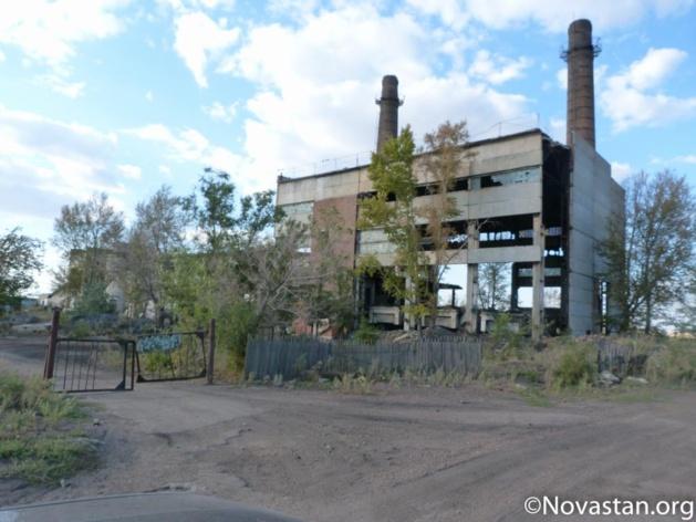 L'ancienne usine de chauffage du village de Zaoziorny au Nord du Kazakhstan. Crédit : Anatole Douaud