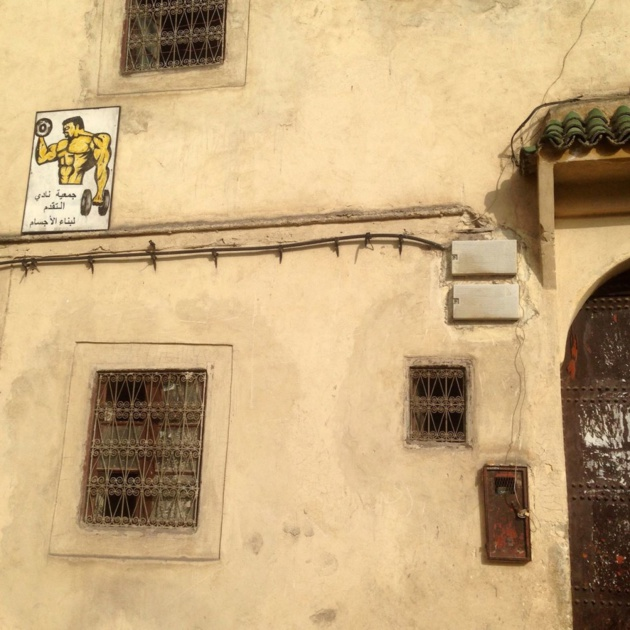 Outside a small gym in the outskirts of the medina of Fes - Crédit : Jenny Gustafsson
