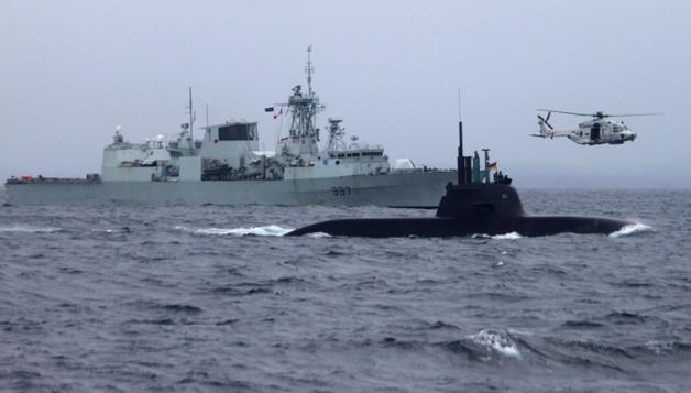 Lançamento do exercício de guerra anti-submarino « Dynamic Mongoose » ao largo das costas da Noruega - Crédito : OTAN