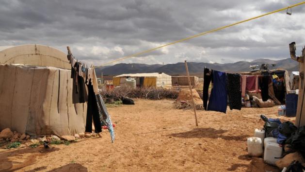 Un camp de réfugiés dans la Vallée de la Bekaa, Liban. Crédit Maurice Page