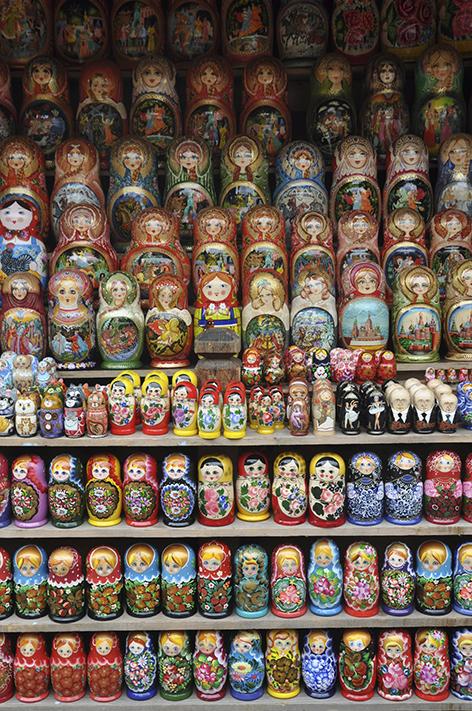les poupées russes de l'Izmailovsky Market. Crédit, Juliette Lissandre