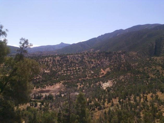 Vista da cadeia de montanhas do Atlas - Crédito Carolina Duarte de Jesus