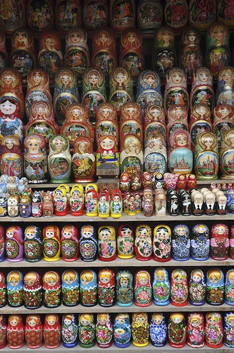 As bonecas Russas de l'Izmailovsky Market. Créditos : Juliette Lissandre