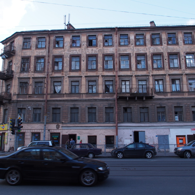 Dilapidated building, western Moscow. Credit: Juliette Lissandre