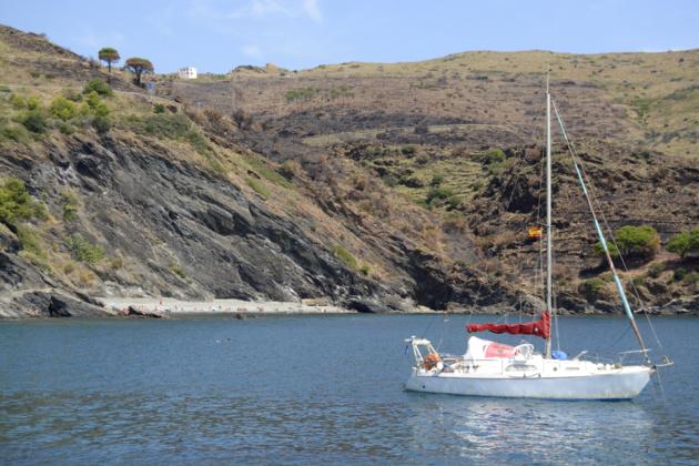 Les Tres Platgetes vu depuis l'Embarcador qui mène à la ville. Crédit Auriane Guiot