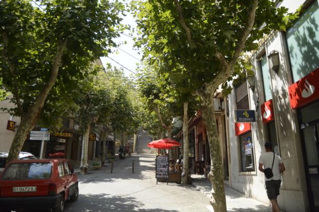 Les rues de la villes sont désertes humainement mais riches en escaliers. Crédit Auriane Guiot