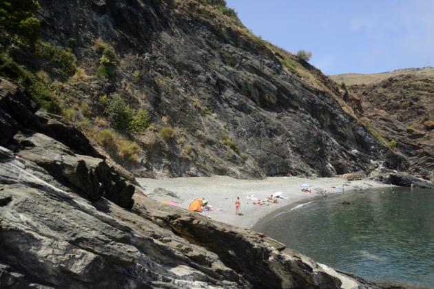 Les Tres Platgetes, la première plage sauvage. Crédit Auriane Guiot