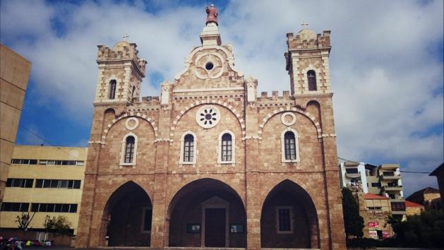 Une des plus grandes églises maronites du pays, Batroun - Crédit Salomé Ietter