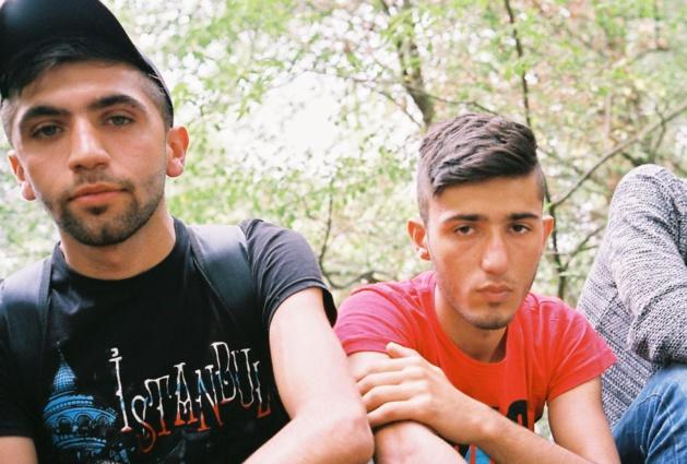 Mahmoud et l'un de ses compagnons de route - Crédit G.M.