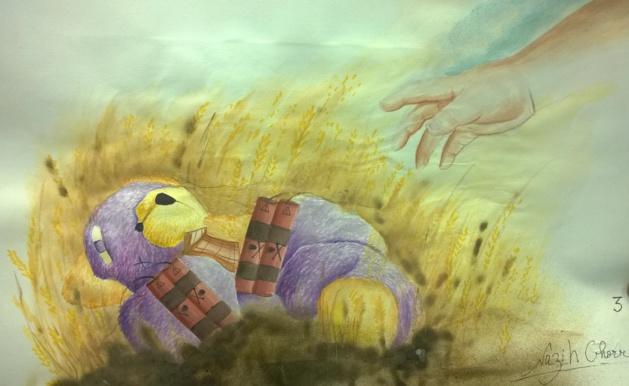 Disegno di uno studente. Fonte Salomé Ietter
