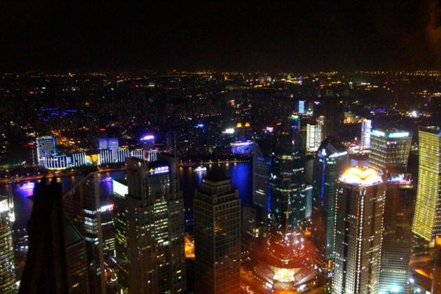 Vue sur Shanghai faite sur la tour Jinmao de 421 mètres - Crédit Eugénie Rousak