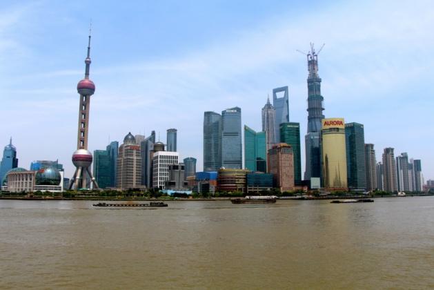 Vue sur Pudong, prise sur le Bund – Crédit Eugénie Rousak