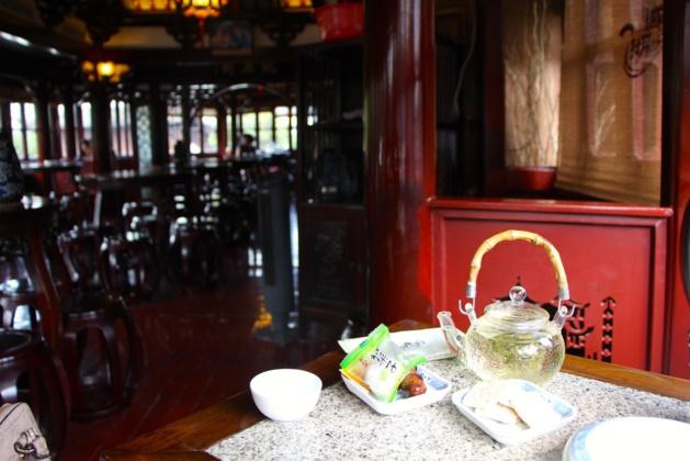 Ambiance relaxante dans la maison de thé au coeur de Nanshi - Crédit Eugénie Rousak