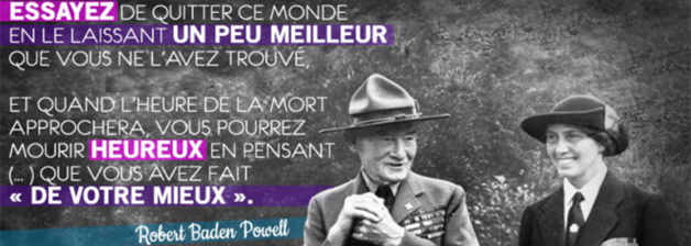 Baden Powell y su esposa Olave. Crédito LaToileScoute