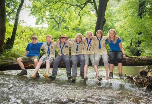 Jóvenes scouts alemanes. Crédito Sebastien Sehr