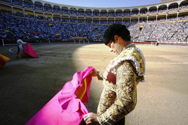 Une des figures les plus célèbres du « mundillo » actuel, José Tomas, dans les arènes de Las Ventas à Madrid - Crédit EFE