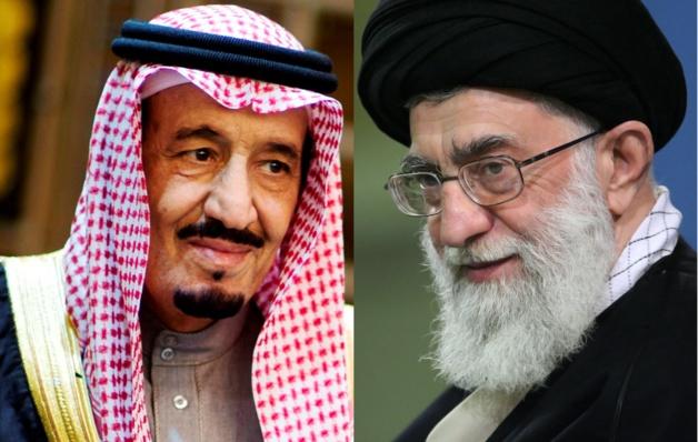 À gauche, le roi d'Arabie saoudite Salmane ben Abdelaziz Al Saoud. À droite, l'ayatollah Ali Khamenei, guide suprême de la révolution islamique iranienne. Crédits Secretary of Defense (g), seyyed shabodin vajedi (CC BY 4.0) (d)