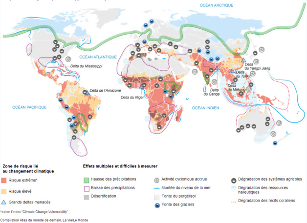 Crédits : Atlas du monde de demain, La vie/Le Monde
