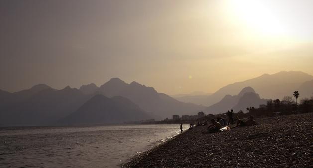 La plage d'Antalya. Crédit photos : Chloé Marchal