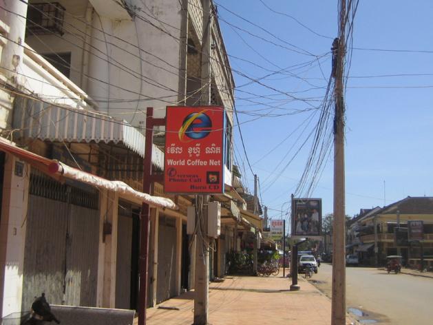 Un cybercafé à Siem Reap, dans le nord-ouest du pays. Crédit : Robert Pratten (licence CC BY-NC-ND 2.0)