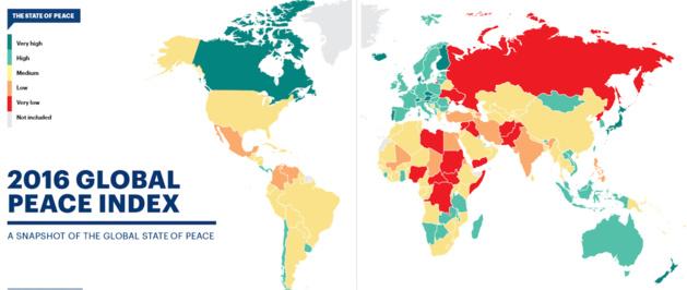 Global Peace Index 2016 - Capture d'écran