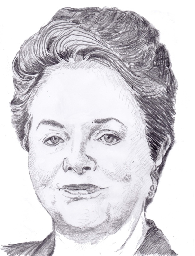 Dilma Roussef. Fonti Muriel Epailly.