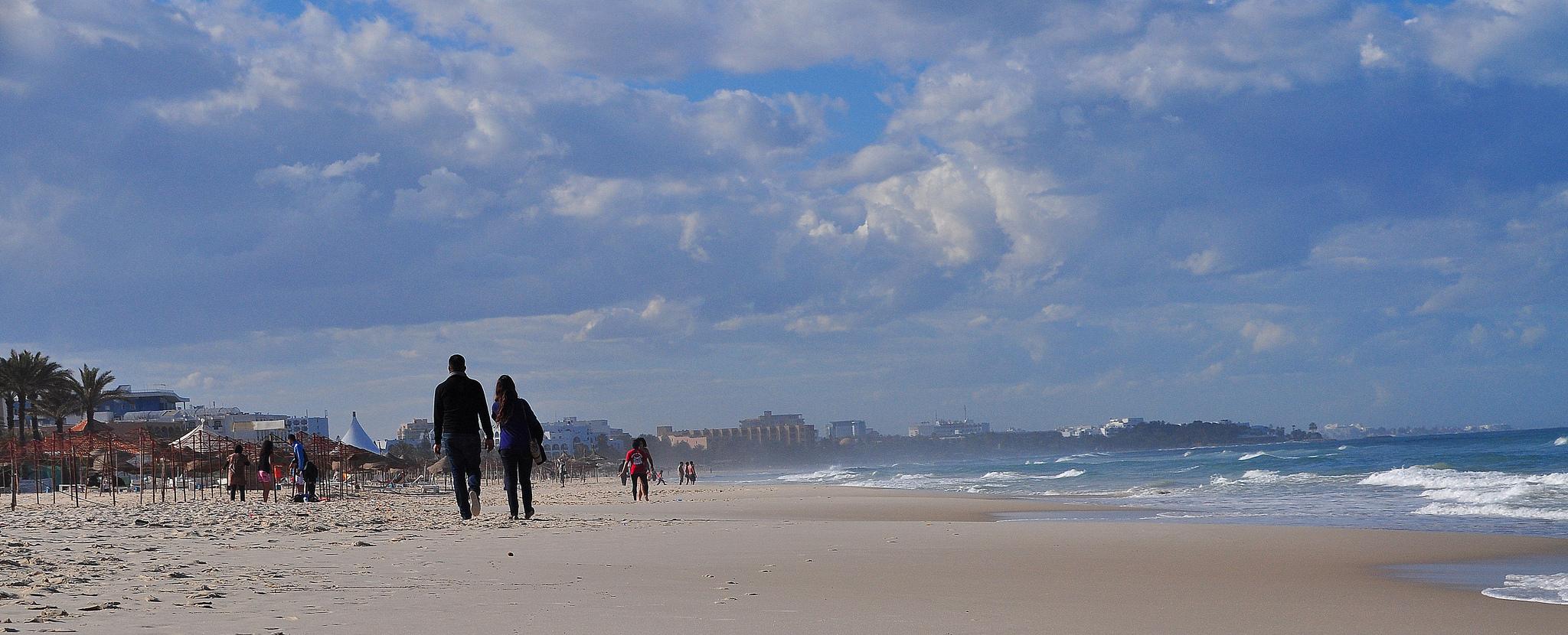 Une plage de Sousse, Tunisie. Crédit R. Gj / Flickr