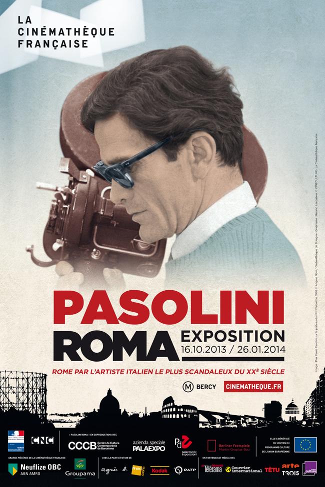 Affiche de l'exposition Pasolini Roma à la Cinémathèque Française