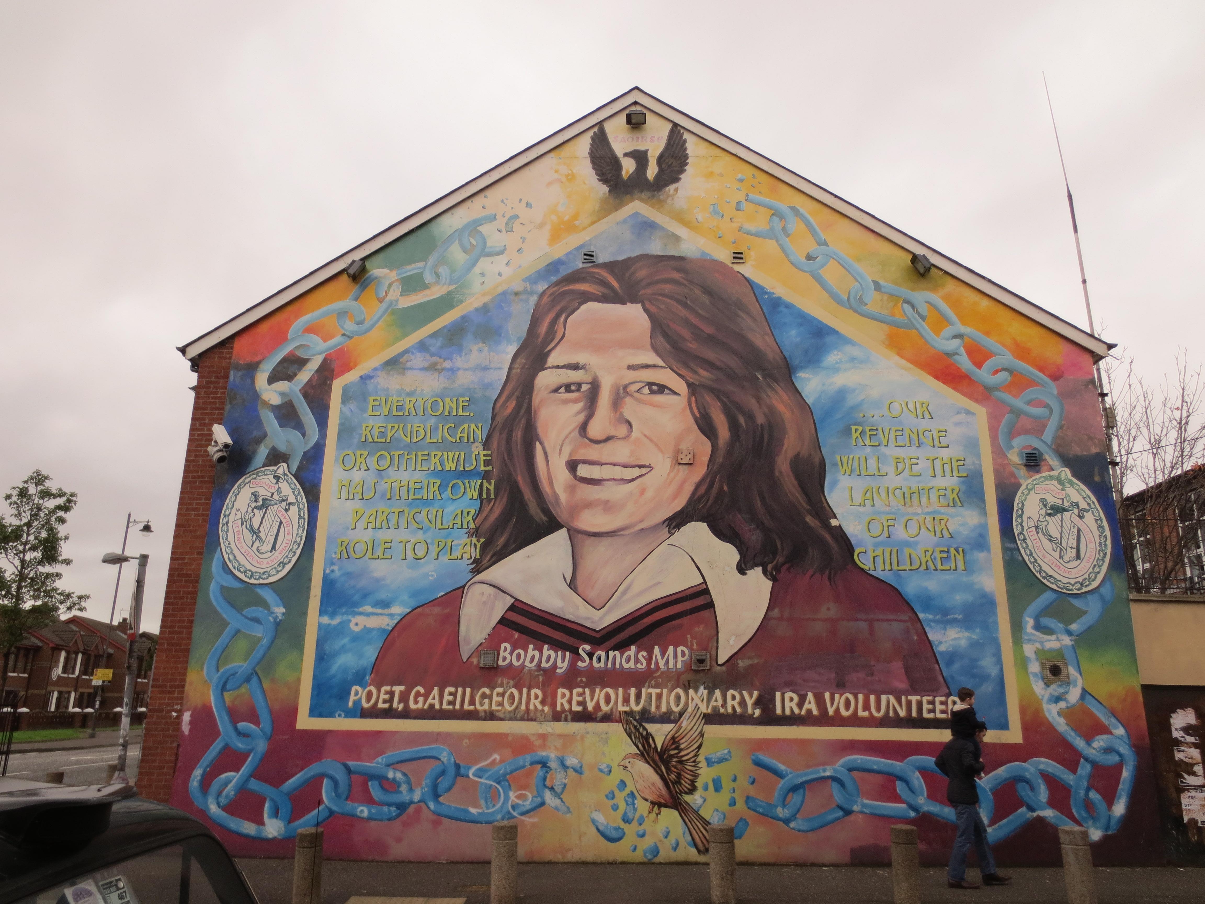 Peinture murale représentant Bobby Sands | Crédits photo : Lauren Konopacz/Le Journal International