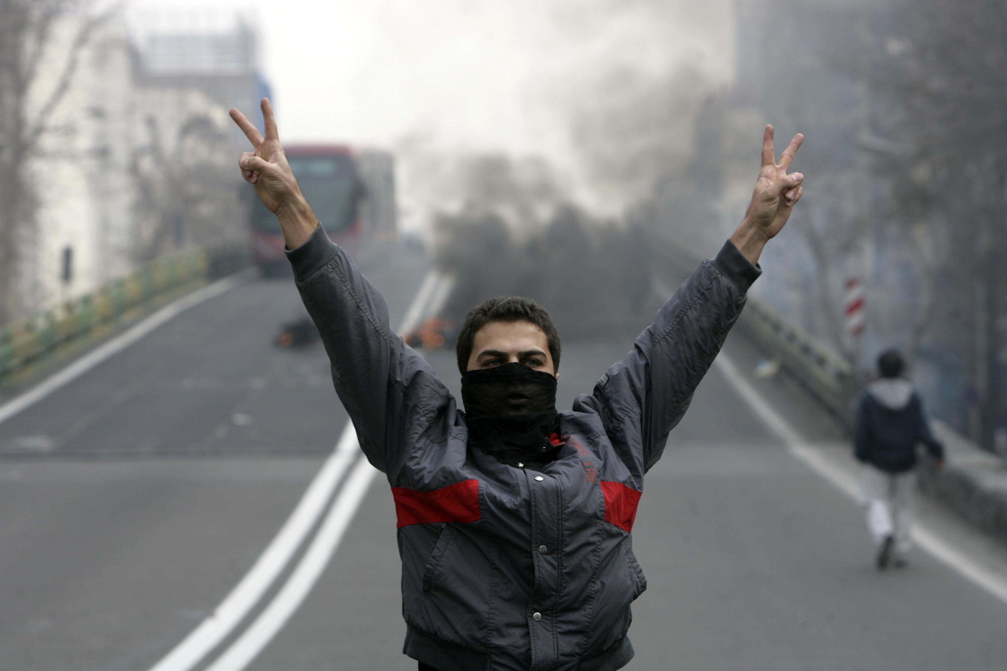 Manifestation à Téhéran en 2009   Crédits photo -- Reuters