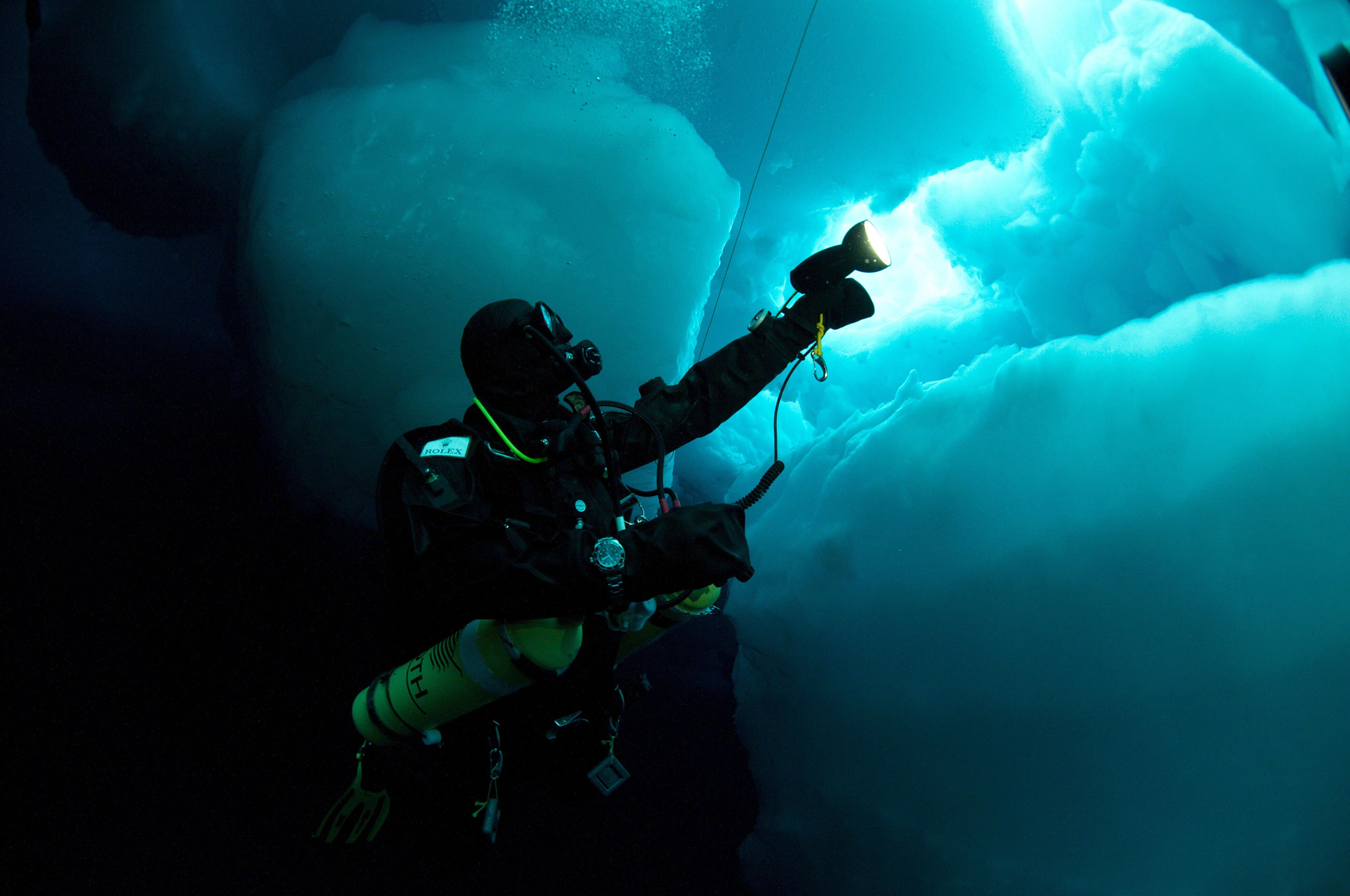 Crédit Photo --- Benoit Poyelle   Deepsea Under The Pole by Rolex