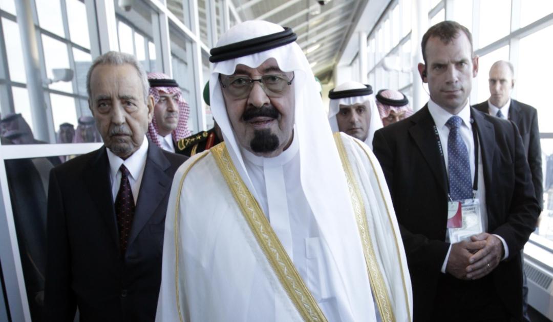 Le roi d'Arabie Saoudite Abdullah bin Abdul Aziz al Saud