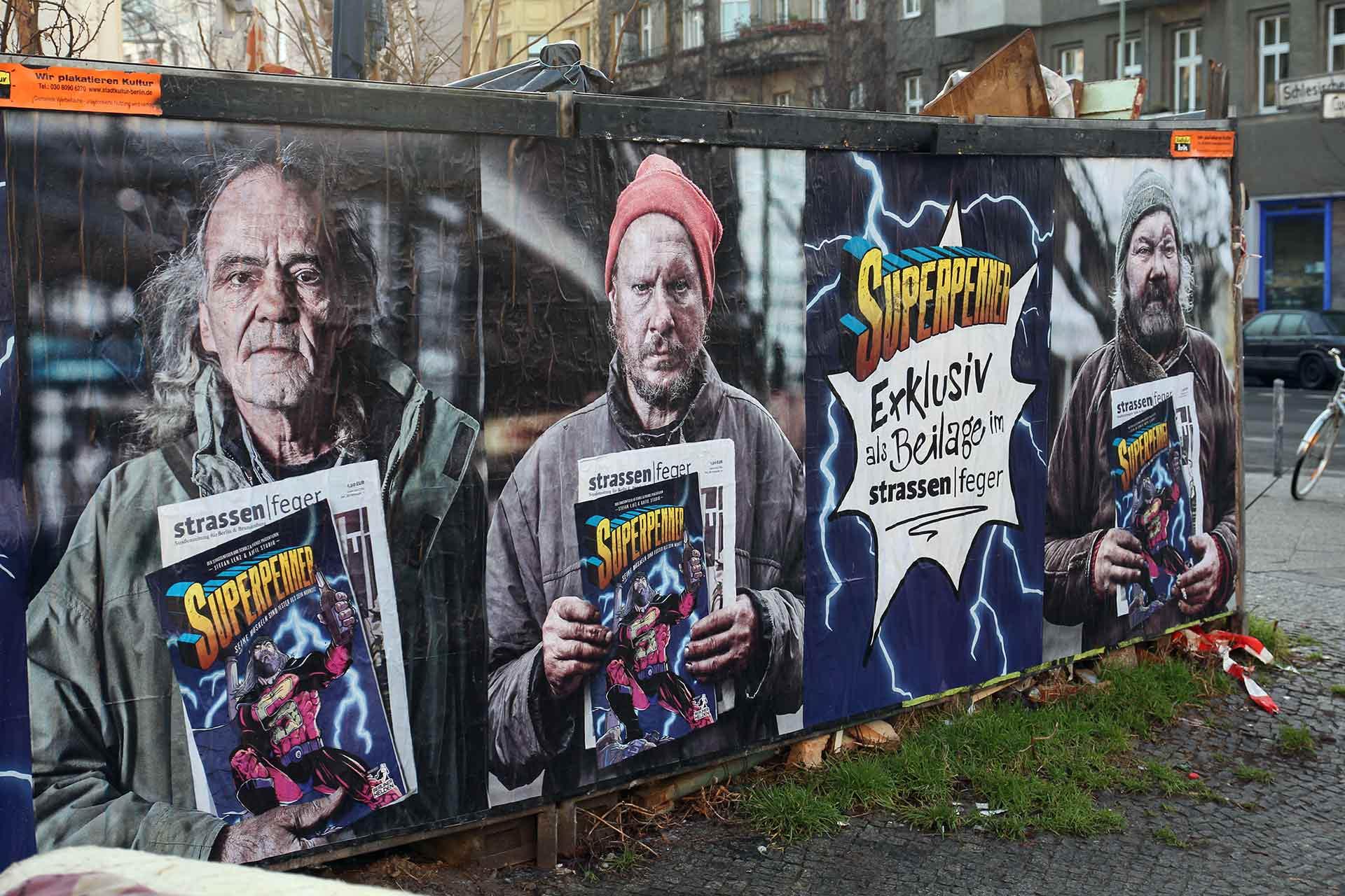 « Superpenner », la bande dessinée sur les sans abris | Crédits Photo -- STRASSENFEGER Berlin ®
