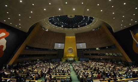 Sommet des Objectifs du Millénaire à l'ONU en 2010   Crédits Photo : Emmanuel Dunand/AFP/Getty Images