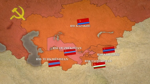 Soviet socialist Republics in Central Asia. Credit : ddc.arte.tv