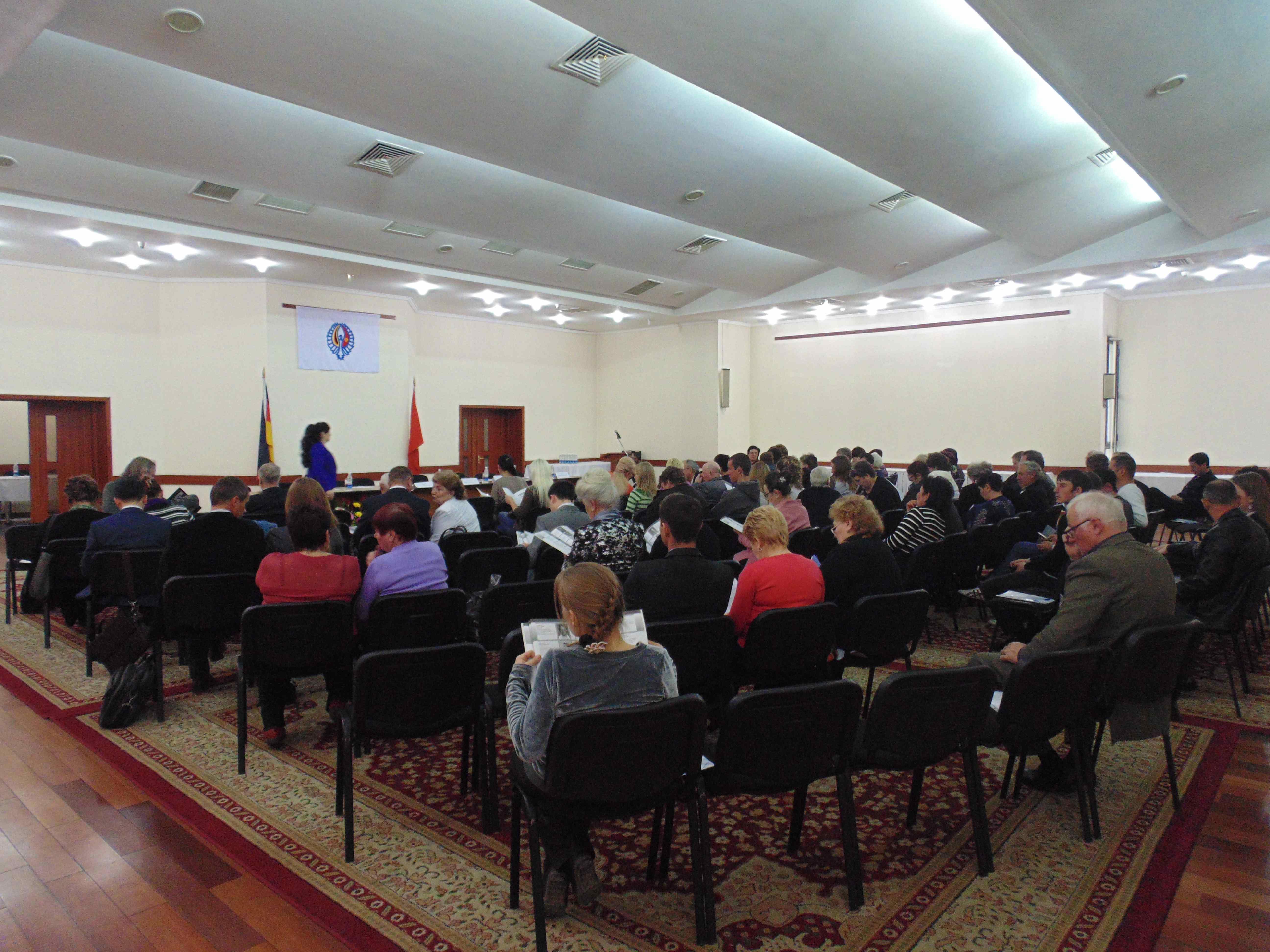 Lors du 10e congrès des Allemands du Kirghizstan, le 20 mars 2014 à Bichkek. Crédit : Aman Jumabaev