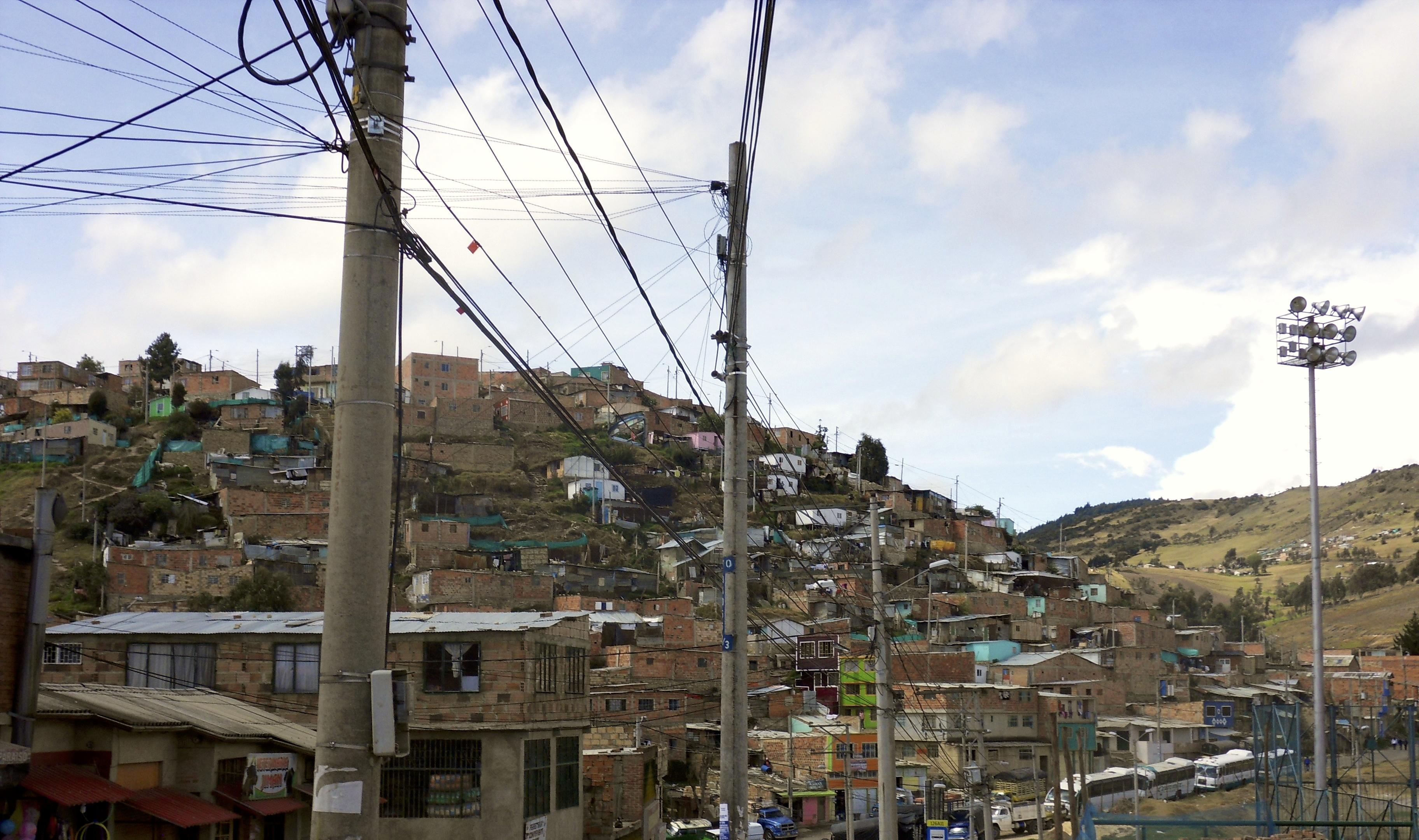 Ciudad Bolivar, Bogota. Crédit photo Simon De Bergh