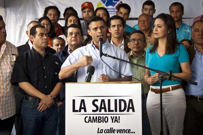 Leopoldo López, « La solution, le changement maintenant ! La rue vaincra… » © Runrun.es