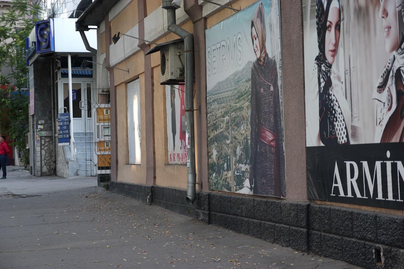Un magasin d'habillements musulmans pour les femmes à Bichkek. Crédit Novastan.org