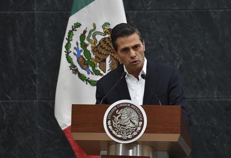 Enrique Peña Nieto, le 29 octobre 2014.  Yuri Cortez / AFP