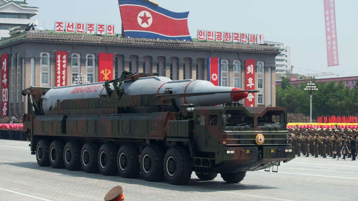 Exhibition d'un missile lors d'une parade militaire à Pyongyang en juillet 2013 Archives/Ed Jones/AFP