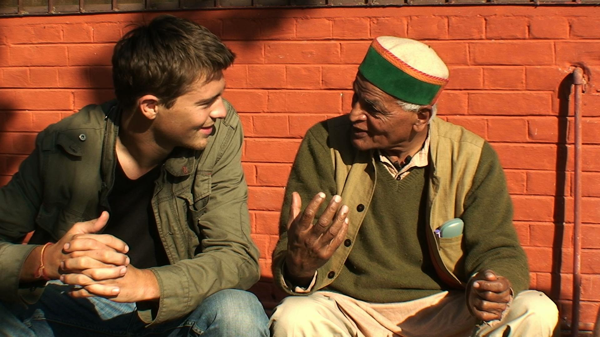 Marc et Satish Kumar, Crédit Nathanaël Coste