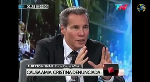 Alberto Nisman durante a sua última entrevista televisiva, dia 14 de Janeiro de 2015. Crédito: Youtube